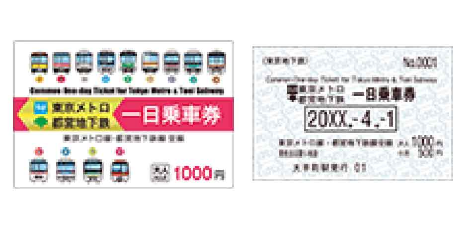 One Day Tokyo Metro and Toei Subway