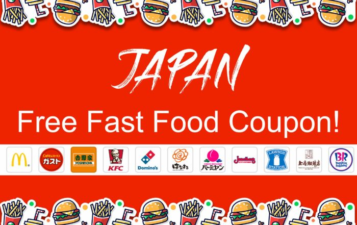 Japan Free Fast Food Coupon