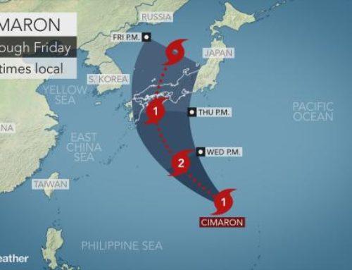 Japan Weather News – Typhoon Cimaron
