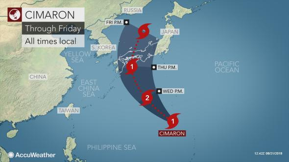 AccuWeather Typhoon Cimaron