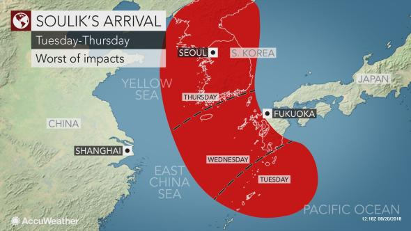 AccuWeather Typhoon Soulik