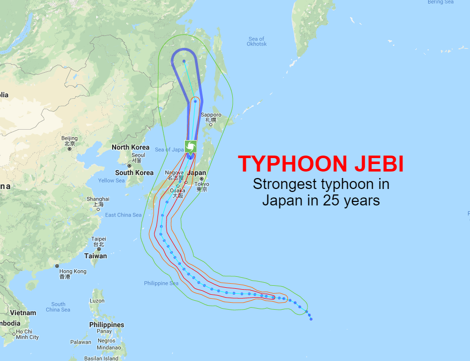 Japan Weather News Typhoon Jebi Japan S Strongest Typhoon In 25