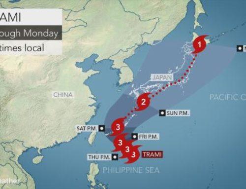 Japan Weather News – Super Typhoon Trami to Hit Japan