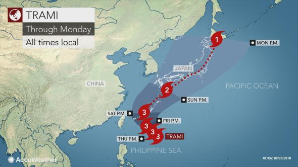 Accuweather Super Typhoon Trami