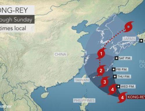 Japan Weather News -Typhoon No 25 Same as Trami ?
