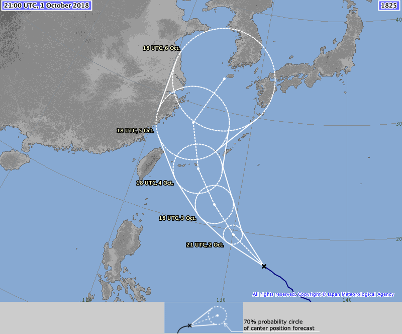 Japan Meteorological Agency - Super Typhoon Kong-rey