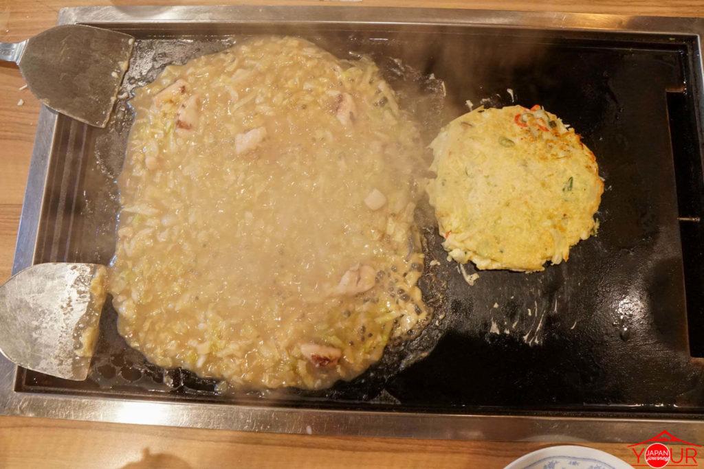 Monjayaki and Okonomiyaki