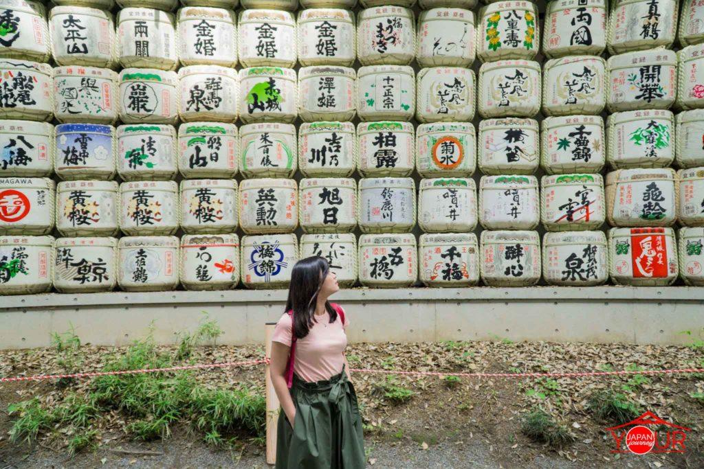 Instagrammable Spots in Tokyo - Meiji Shrine Sake Barrels
