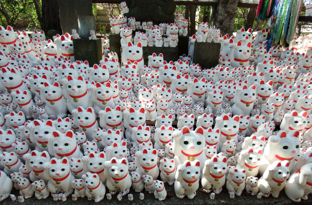 Gotokuji Temple - Cat Figurines