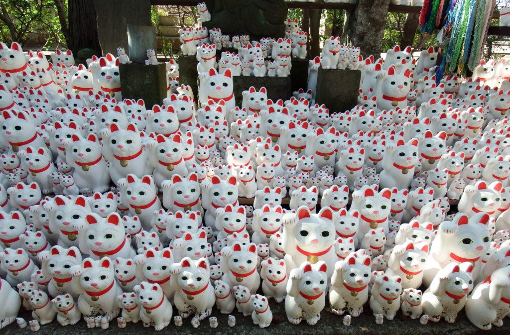 Gotokuji Temple - Cat Figurines